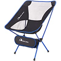Moon Lence アウトドアチェア キャンプ椅子 コンパクト 超軽量 折りたたみ アルミ合金&オックスフォード 収納バッグ付き キャンプ アウトドア ハイキング