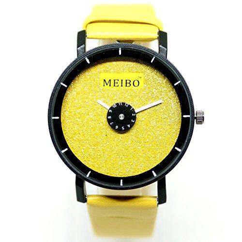 ZooooM 腕 時計 DIAMOND FACE カラフル シンプル デザイン 文字盤 アナログ ウォッチ ファッション アクセサリー おもしろ カジュアル メンズ レディース 男性 女性 男 女 兼 用 ( イエロー ) ZM-WATCH2-944-YE