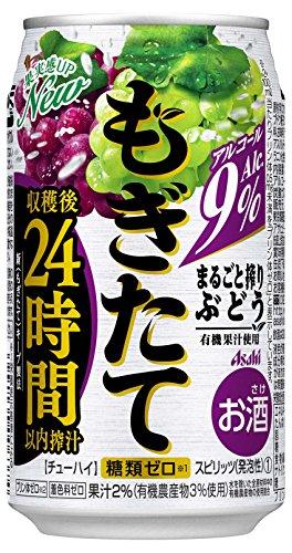 アサヒ もぎたて まるごと搾りぶどう 缶 350ml×24本