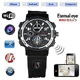 スパイカメラ Eternal FD4.3 WIFI 腕時計型カメラ 720P HD 高画質 H.264压缩格式 多機能 暗視 (8GBSDカード内蔵)