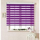 サイズ オーダーメイド , [Winsharp Basic , purple , W 210 x H 210 (CM)] 調光ロールアップ スクリーン 窓 プリーツ ブラインド & カーテン 簾