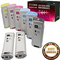 Tuobo 互換インクカートリッジ HP 70インクカートリッジ 130ml HP Designjet Z2100 Z3100 Z3200 Z5200プリンター用 8個パック