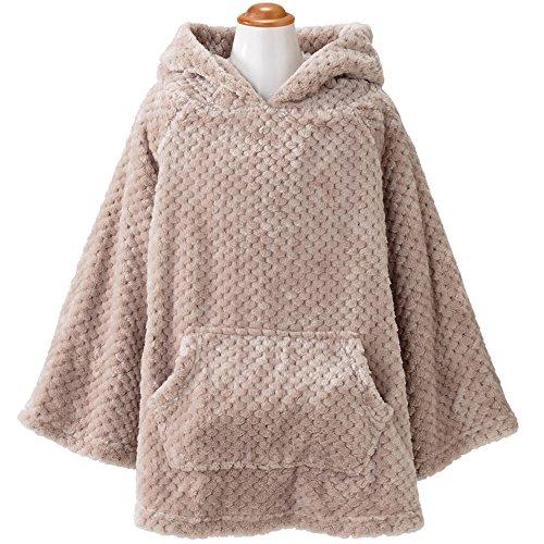着る毛布 ルームウェア キッズ フード付き 長袖 静電気防止加...