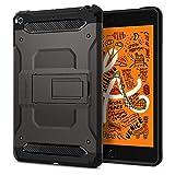 【Spigen】 タブレットケース iPad mini 5 ケース 2019 対応 米軍MIL規格取得 落下 衝撃 吸収 タフ・アーマー テック 051CS26115 (ガンメタル)