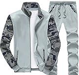 (アルファーフープ)α-HOOP メンズ レディース 子供 服 ペアルック グッズ お揃い 色違い コーデ 男女 親子 友達 ジャージ スエット パンツ カモフラ 長袖 前開き ジップアップ トレーナー ジャケット 上下 セット アップ 大きいサイズ かわいい パジャマ 衣装 PP-6a (11.浅灰(XL))