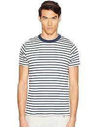 (トッド スナイダー) Todd Snyder メンズ トップス Tシャツ Short Sleeve Striped Shore Crew Sweatshirt [並行輸入品]