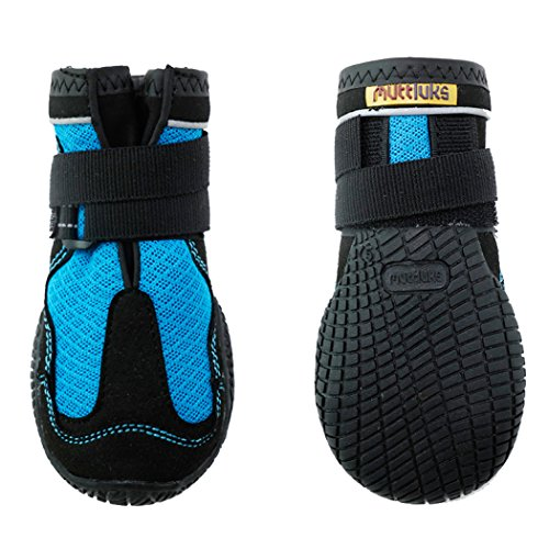 犬用靴 Mud Monsters (マッドモンスターズ) 1/XXS-XS ブルー 2個入り [並行輸入品]