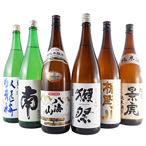 ギフト 日本酒 飲み比べセット 一升瓶 6本 臥龍梅 南 八海山 獺祭 楯野川 越乃景虎 1.8L