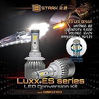 Stark 2.0 Luxx ESシリーズ80W 9000LMオールインワン360°LED COBフリップチップ変換キットクールホワイト6000K 6Kペア電球ヘッドライトハイビーム - 9005 HB3