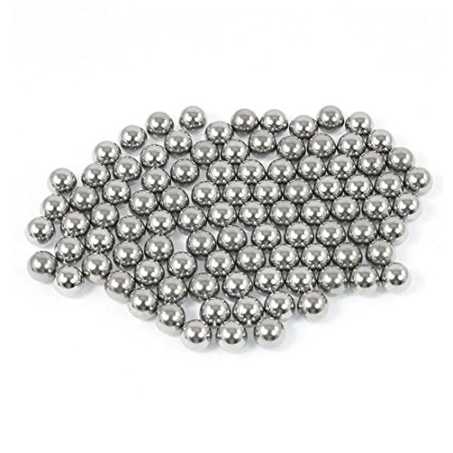 病空のジャベスウィルソンuxcell 鋼球 自転車ボール 鉄ボール ベアリング鉄球 バイクベアリング シルバートーン 90個いり 6.35mm直径