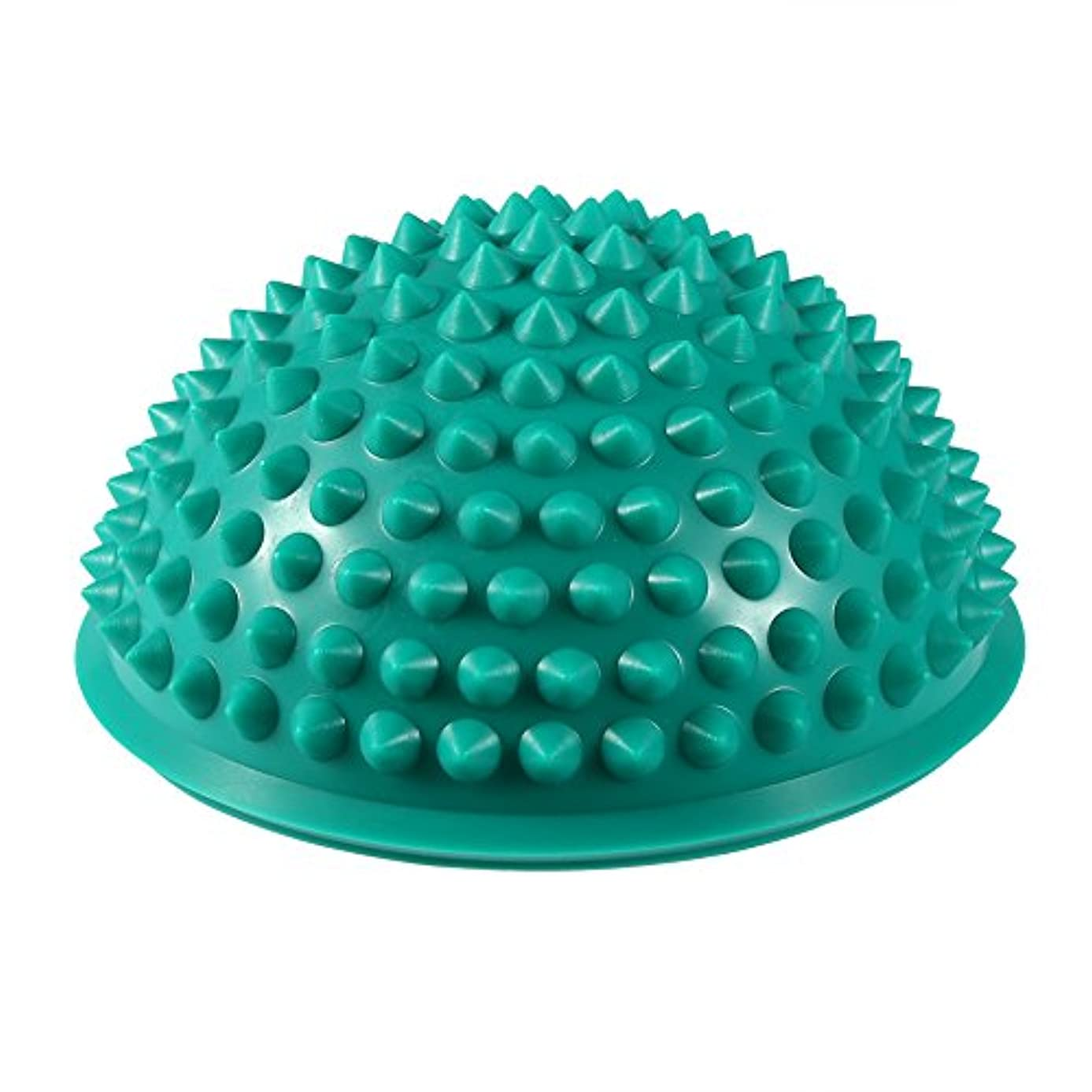 パシフィック罹患率おなかがすいたハーフラウンドPVCマッサージボールヨガボールフィットネスエクササイズジムマッサージ5色(グリーン)