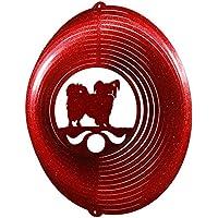Papillon Circle Swirly Metal Wind Spinner 2291