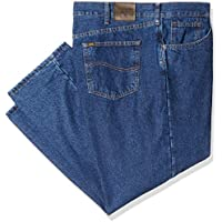Lee Mens 21057 Big-Tall Fleece Lined Relaxed Fit Straight Leg Jean Jeans - Blue