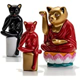 ミニチュアファクトリー (MINIATURE FACTORY) 横尾忠則 魔除猫 フィギュア ストラップ 弥勒 大仏 全8種ばら売り