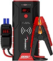 Rooboost™ UPGRADED 1500A Peak Car Jump Starter (Up to 7L Gas and 5L Diesel) with Digital Display, Wireless Pho