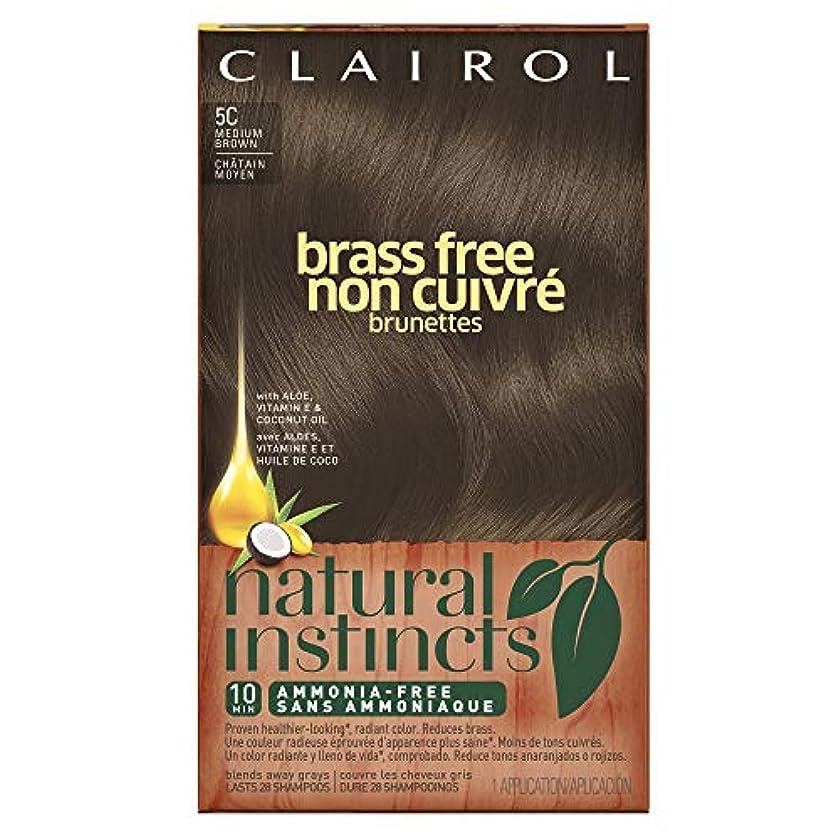 飢えアーカイブ模倣Clairol 自然本能真鍮無料ヘアカラー、ミディアムブラウン[5C] 1 Eaは(6パック) 6パック 褐色