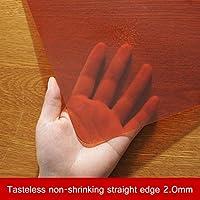 無味半透明のテーブルクロス/雑巾、非縮小し、防水性と耐油性、キッチン、レストラン、ダイニングテーブル、コーヒーテーブル、中庭、庭 (色 : Orange-2.0MM, Size : 80X130CM)