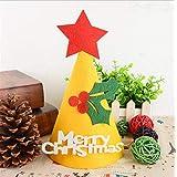 HuaQingPiJu-JP DIY手作りハットクリスマスハットホリデーパーティーハットクリスマスデコレーション(Cherry)
