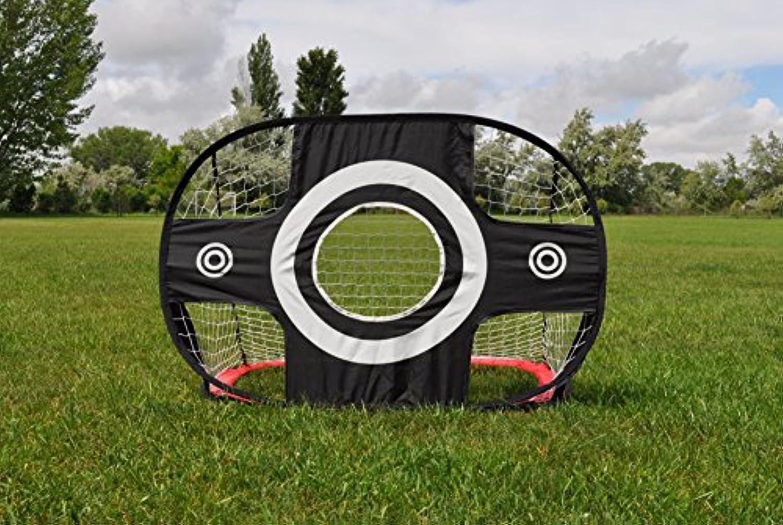 Ajillis 00034 Soccer Goal withターゲット、ブラック、ミディアム