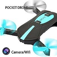 2MPのHDカメラ付きミニWIFI FPV UAVライブビデオ折りたたみ可能なクアドコプターAPP制御高さホールド/トラックフライトブルー