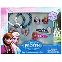 [ディズニーフローズン]Disney Frozen Jewelry Accessories Box with Snap Clips, Beaded Bracelet & Rings FZ530 [並行輸入品]