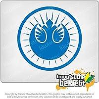 ニュージェダイオーダー New Jedi Order 10cm x 10cm 15色 - ネオン+クロム! ステッカービニールオートバイ