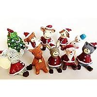 クリスマス 置物 オーナメント 10種類 サンタさんと動物たち