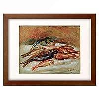 ピエール=オーギュスト・ルノワール Pierre-Auguste Renoir 「Still life with fish」 額装アート作品