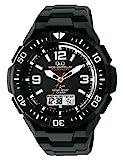 [シチズン キューアンドキュー]CITIZEN Q&Q 電波ソーラー腕時計 SOLARMATE (ソーラーメイト) アナログ表示 クロノグラフ機能付き 10気圧防水 ウレタンバンド ホワイト×ブラック MD06-305 メンズ