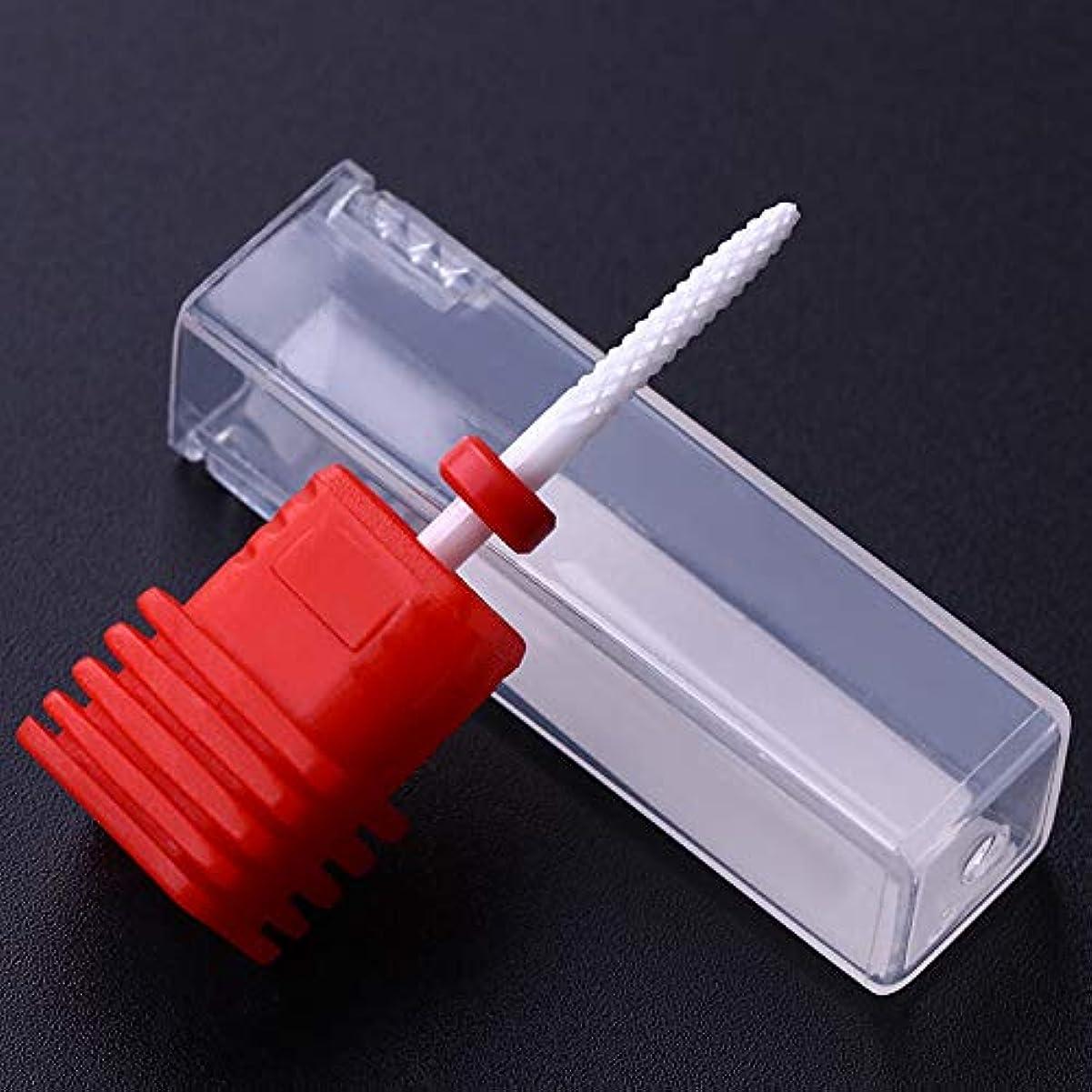 迷彩妊娠したテナントFidgetGear 電気釘のドリルのクリーニングビット3/32ファイル磨く格子マニキュアの下で 赤
