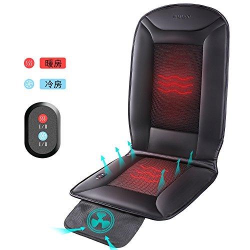 Naipo 加熱クッション ホットカーシート 涼しいカーシート 3D換気孔 クールシート ヒートシート カーエアーシート 車載クッション 家 オフィス 自動車