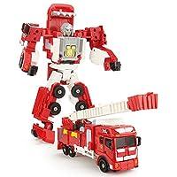 JQ trend 消防合体ロボ消防オートバイ 消防ヘリコプター 消防指揮車 消防ポンプ車 消防はしご車ロボットに変形 5体合体で巨大ロボに (消防はしご車)