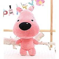HuaQingPiJu-JP 40cm犬のおもちゃソフトぬいぐるみ人形ぬいぐるみぬいぐるみおもちゃの柔らかい贈り物子供(ピンク)
