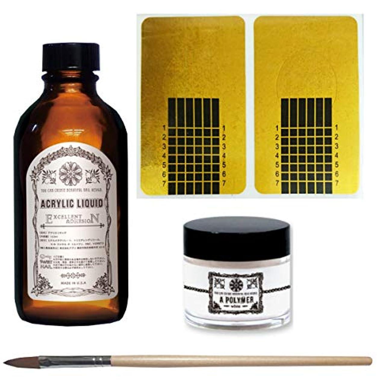 瞑想するアルバムキュービックネイル アクリルリキッド アクリルパウダー スカルプブラシ ネイルフォーム セット販売+プレゼントつき (2oz(59ml)  クリア  10号(キャップ付き) ネイルフォーム)