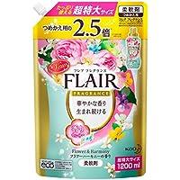 【大容量】フレアフレグランス 柔軟剤 フラワー&ハーモニーの香り 詰替用 1200ml