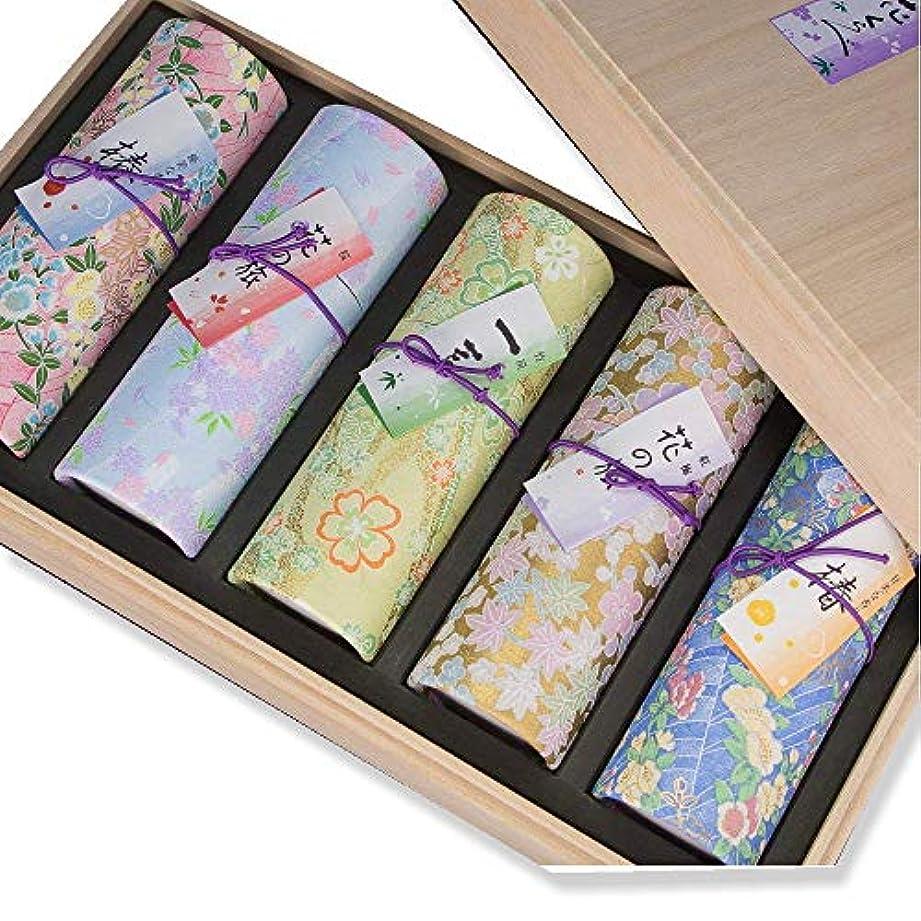 テスピアンそれにもかかわらず美しい進物 お線香 花くらべ 5種セット 桐箱入り