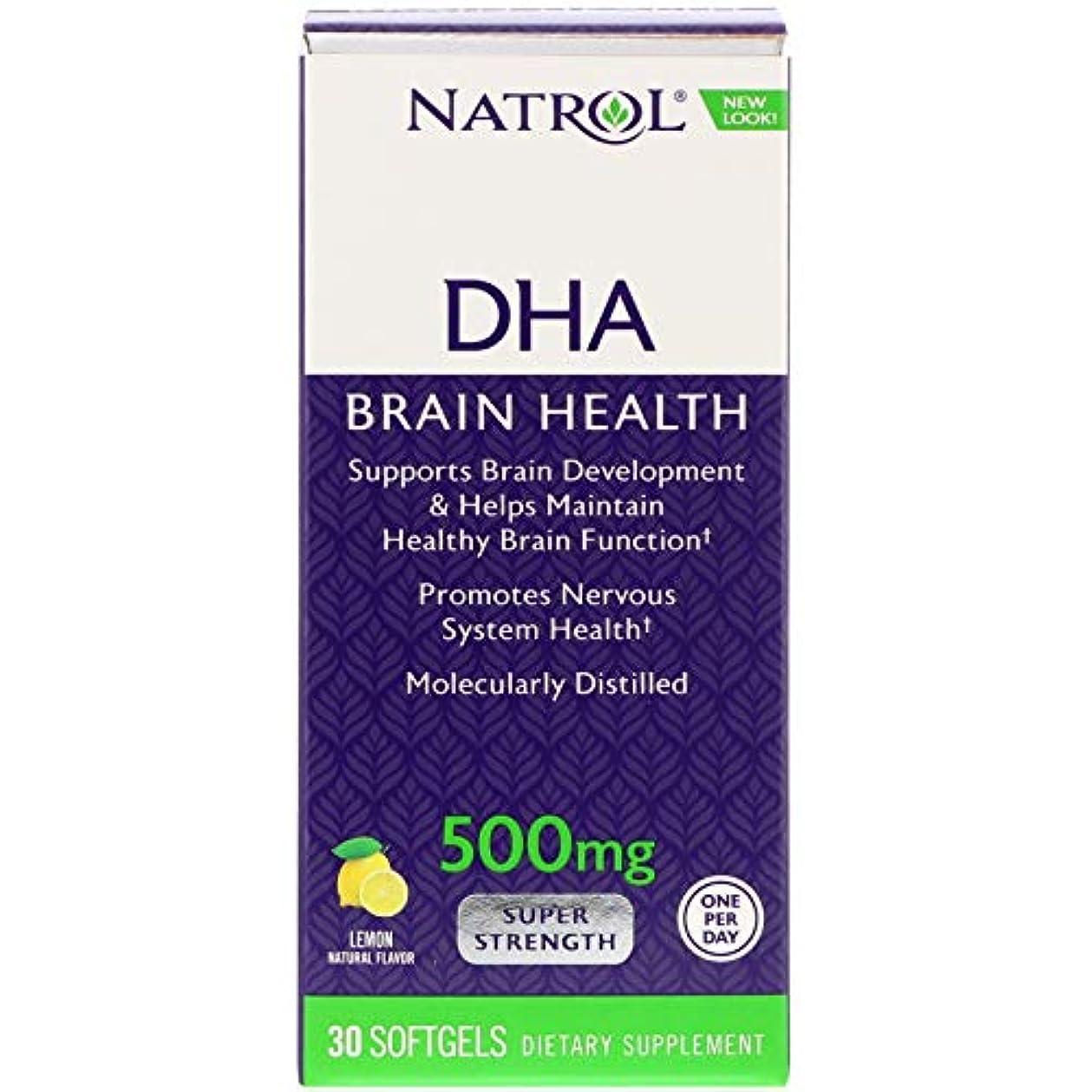 空洞わずかな家事[海外直送品] Natrol DHA500 スーパーストレングス 30粒
