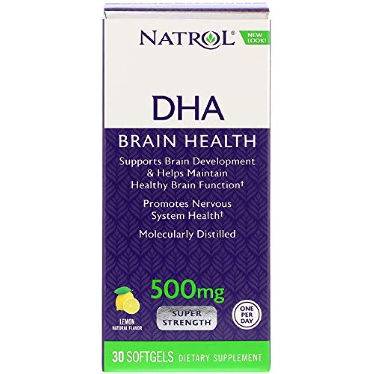 作曲する乱用神経衰弱[海外直送品] Natrol DHA500 スーパーストレングス 30粒