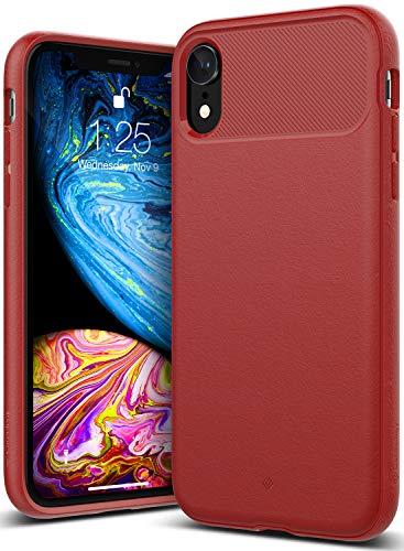 Caseology iPhone XR用ケース Vault Series TPU ミリタリーグレード通過(米国防総省ドロップテスト) CO-A18M-VLT (レッド)