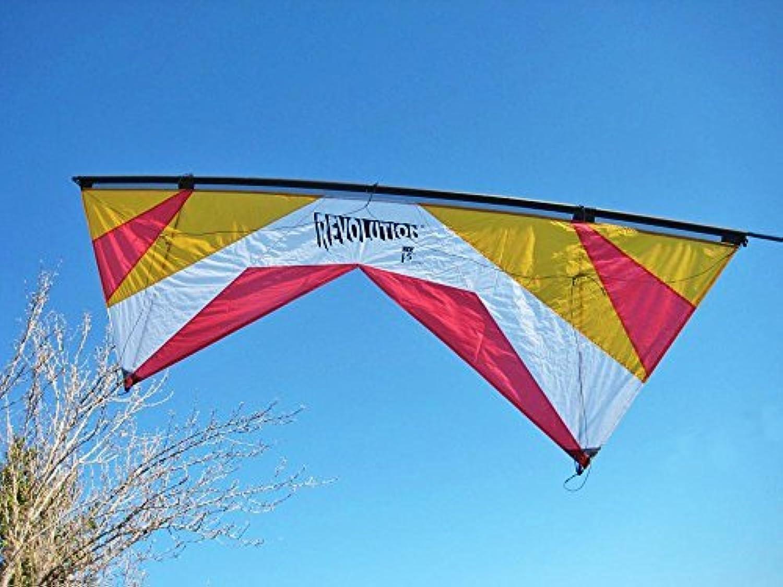 Revolution 1.5 SLE Standard Gold White Red Quad Line Stunt Kite Made in the USA by Revolution [並行輸入品]