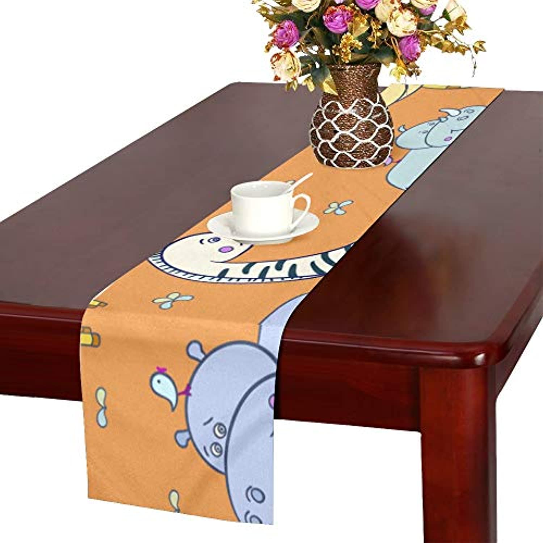 GGSXD テーブルランナー 太いカバ クロス 食卓カバー 麻綿製 欧米 おしゃれ 16 Inch X 72 Inch (40cm X 182cm) キッチン ダイニング ホーム デコレーション モダン リビング 洗える