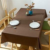 Meioro テーブルクロス テーブルカバー PVC製 防水 撥水加工 耐熱 汚れ防止 手入れ簡単 インテリア用品 多用途 4色選択 サイズ選択可能 (ブラウン, 120 * 160)