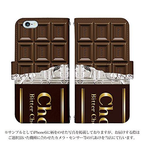 iPhone7 手帳型 ケース [デザイン:6.ビターチョコレート] 板チョコレート アイフォン スマホ カバー