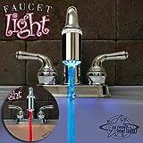 【独占輸入FaucetLight】水道の蛇口にピタっ♪温度で超青く!超赤く光る★蛇口LEDレーザービーム / Hog Wild LLC