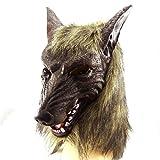 OUBORUI ホラーハロウィンコスプレウルフマスクハロウィンコスチューム、恐怖デビルウルフマスク仮装パーティー