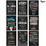 Outgeek 9Pcs Classroom Poster Decorative Wall Poster Inspirational Quotes For Classroom Decoration One Size Multicolor 1