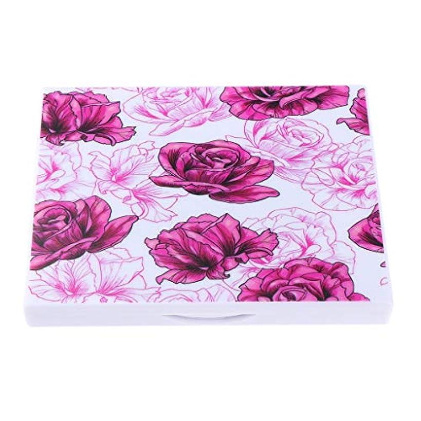 ボート復活する喜劇磁気パレット メイクアップ コスメ 化粧品 DIY 収納ケース ミラー付き 4タイプ選べ - 赤いバラの花