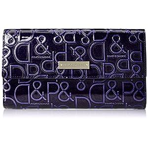 [ピンキーアンドダイアン] 長財布 【ドルチェ】 エナメル ロゴ型押し PDLW7GT1 50 パープル