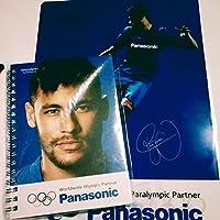 非売品 Panasonic ネイマール ファイル ノート パナソニック サッカー クリアファイル リングノート サイン入り