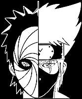 """Naruto–- Kakashi Hatake And Obito Uchihaデカールステッカー車/トラック/ノートパソコン 5.5"""" x 4.5"""" ホワイト 0"""